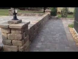 Fire Columns For Patio Brick Paver Patio Stone Walls Stone Columns U0026 Fire Pit By