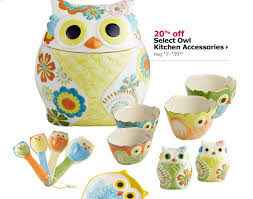 charming art owl kitchen decor 4 piece owl canisters tray set