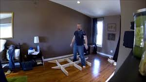How To Build A Wood Platform Bed Frame by Floating Bed Frame Part 1 Youtube
