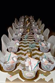 Pink And Gold Table Setting by Coral Mint Pink And Gold Chevron Party Bicycle Party