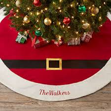 christmas tree skirts personalized tree skirt santa belt