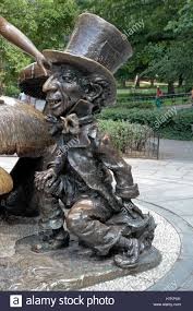 up of the mad hatter on the in sculpture in