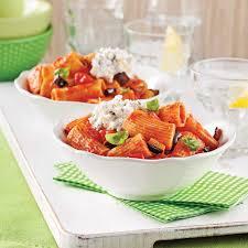 cuisine santé express rigatonis aubergine et ricotta soupers de semaine recettes 5