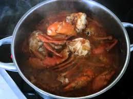 cuisiner le crabe okrasoße mit krabben scharf sauce gombo aux crabes couscous fufu