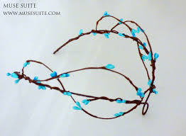 elf crown blue branch forest tiara elven crown handmade by
