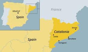 map of spain catalonia map where is catalonia and why has it declared