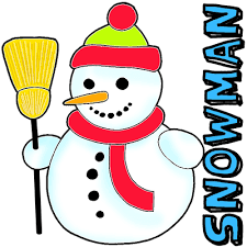 draw snowman easy step step drawing tutorial