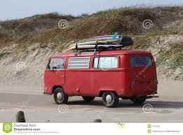 volkswagen bus painting old volkswagen bus with surfboards stock image image 4161047