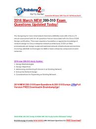 pdf 2016 new cisco ccda design 200 310 desgn pdf computer