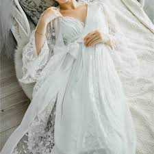 wedding peignoir sets lace nightgowns sleepshirts white robes set bathrobe sets