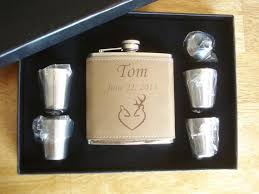 and groom flasks deer heart flask gift sets 4 personalized sets great gifts for