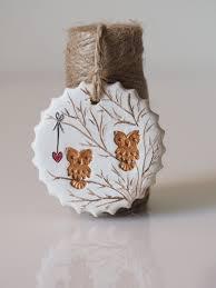 Owls Home Decor Clay Owl Decoration Owl Home Decor Handmade Owl Rustic