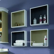 armadietti per bagno visual box cm 40x40 a giorno per bagno mobili casa idea stile