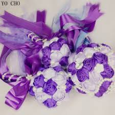 silk ribbon roses aliexpress buy artificial bridal bouquet supplies oem