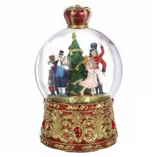 nutcracker suite musical snow globe