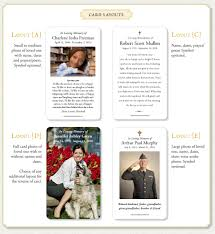 Memorial Invitation Cards Memorial Prayer Cards Layout Options