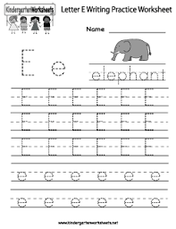 letter e writing practice worksheet language arts pinterest