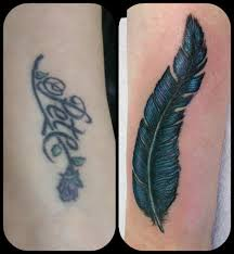 name cover up with a feather by dave feather coverup