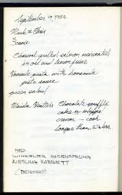 thanksgiving handwriting paper 1984 dinner diary and thanksgiving menus and stories the dinner