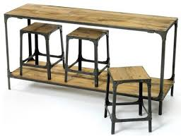 sofa table design sofa table with stools awesome industrial