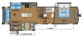 Fifth Wheel Rv Floor Plans by 2018 Jayco Eagle Fifth Wheel Travel Trailer Rv Centre