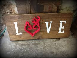 country home decor signs wooden deer love pallet sign buck doe heart sign couple deer