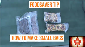 foodsaver tips making small bags youtube