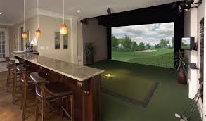Home Design Simulation Games Luxury Home Golf Simulator Rooms Aboutgolf Will Happily Install