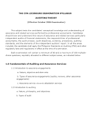 Audit Engagement Letter Sample Philippines Auditing Theory Syllabus Audit Auditor U0027s Report