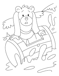 bear struck waves coloring pages download free bear struck