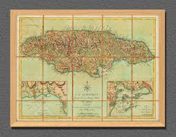 Jamaica Map Map Of Jamaica 1778 La Jamaique Jefferys Le Rouge Battlemaps Us
