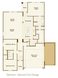 3 Car Garage Dimensions New Home Plan Glhs In Ft Worth Tx 76131