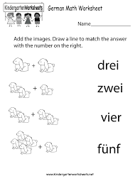 Worksheets For Math Free Printable German Math Worksheet For Kindergarten