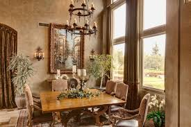Chandelier Over Table Elegant Tuscan Dining Room With Wrought Iron Chandelier Over