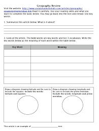 5th grade map skills worksheets worksheets
