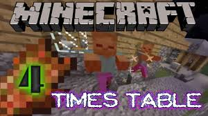 four times table song country roads cover minecraft style youtube