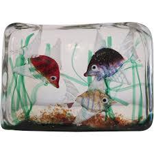 cenedese glass block aquarium attributed to riccardo licata ca