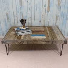 cable reel coffee table with hairpin legs by frances bradley