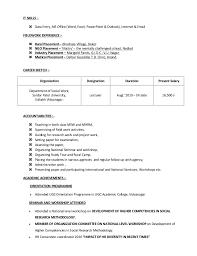 resume skills exle resume 1