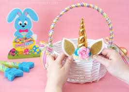 decorating easter baskets how to make a diy unicorn easter basket i heart crafty things