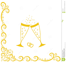 champagne glasses clipart champagne glasses golden wedding celebration royalty free stock