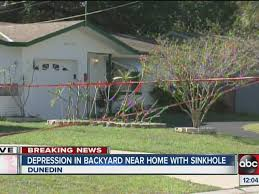 Sinkhole In Backyard Two Homes Collapse Into Sinkhole In Dunedin Abcactionnews Com