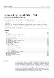 repeated sprint ability part i factors contributing to fatigue