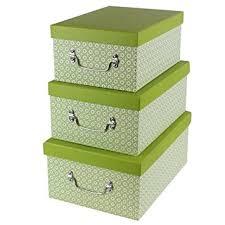 jvl high quality grade cardboard retro decorative lidded storage