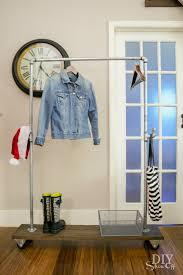 diy freestanding mobile pipe coat rackdiy show off u2013 diy