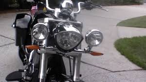 Light Bar For Motorcycle Victory Cross Roads With Light Bar Youtube
