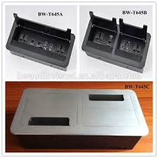 conference table electrical accessories aluminum electrical power desktop socket box flip up tabletop outlet