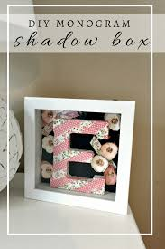 Gifts For A New Home Diy Monogram Shadow Box Elle Olive U0026 Co