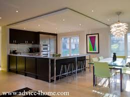Open Plan Kitchen Designs Area Design In Open Plan And Dropped Ceilign Design And Black