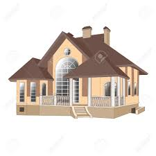 Painting House by Illustrations Buildings Vector Cottage Painting House